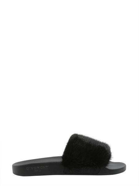 Givenchy - Mink And Caoutchouc Slide Sandals