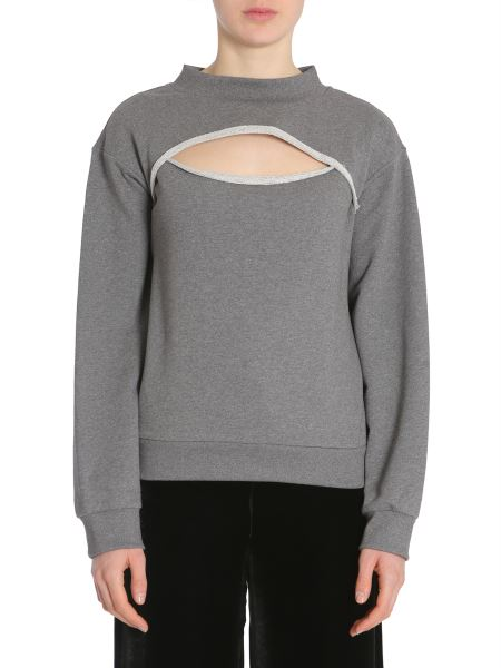 Alexanderwang.t - Cotton Sweatshirt With Cut Out Detail
