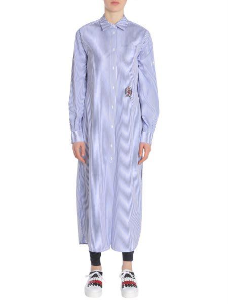 "Tommy Hilfiger - ""ithaca"" Striped Cotton Shirt Dress"