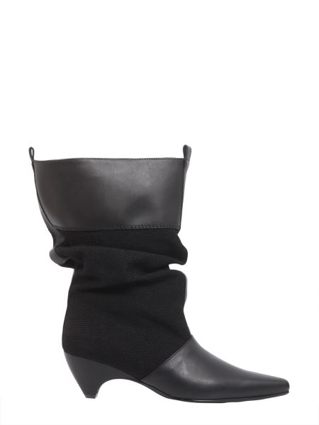 Stella Mccartney - Slouchy Boots With Conical Heel