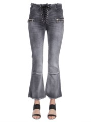 UNRAVEL - JEANS LACEUP FLARE CROPPED