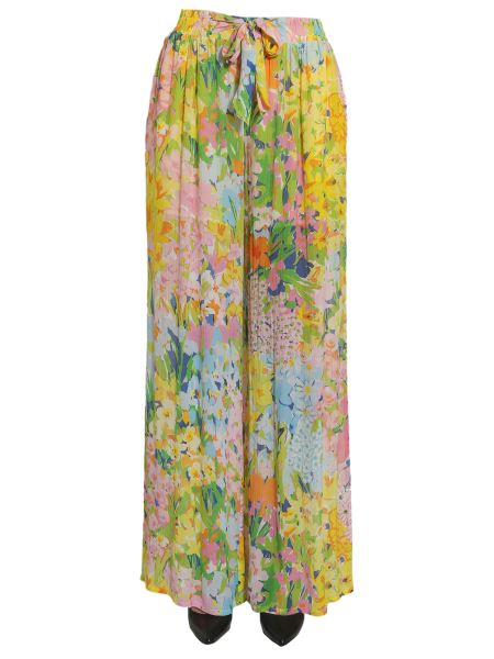 Boutique Moschino - Flower Printed Wide Georgette Trousers