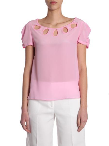 Boutique Moschino - T-shirt In Crêpe Di Seta