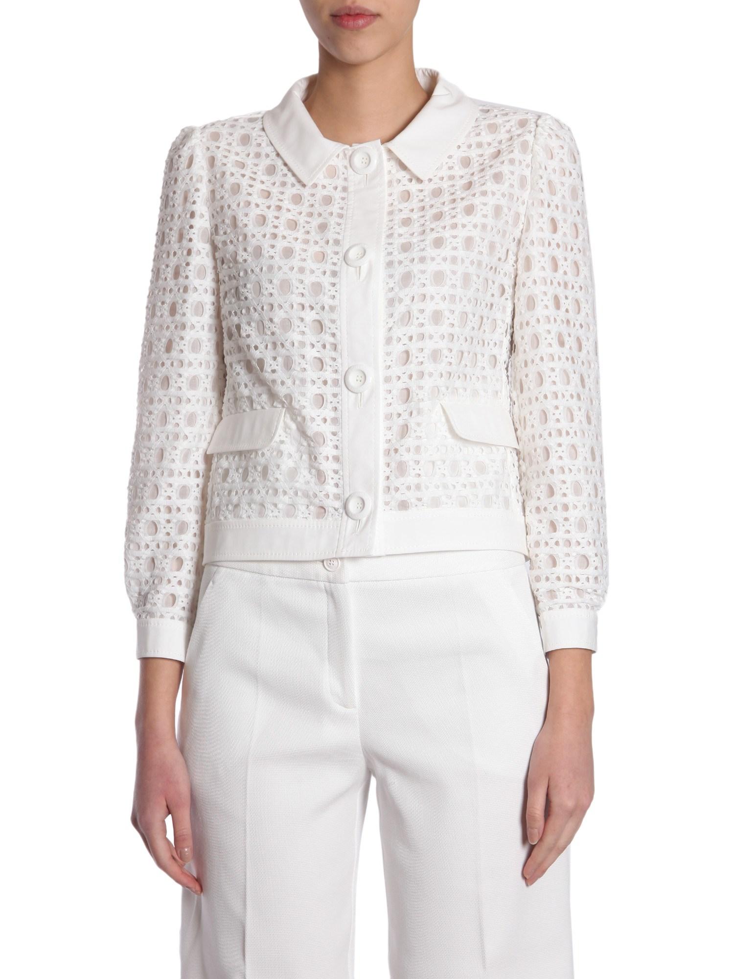 Sangallo lace blazer - boutique moschino - Modalova