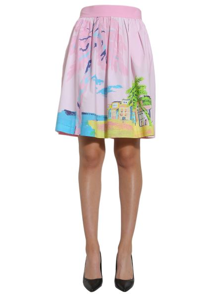 Boutique Moschino - Printed Cotton Poplin Skirt