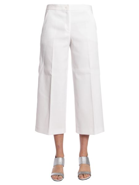 Boutique Moschino - Wide Cotton Pique Trousers