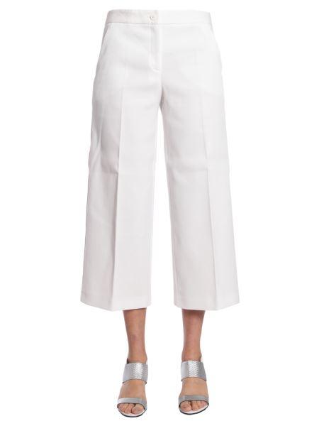 Boutique Moschino - Pantalone Ampio In Pique Misto Cotone