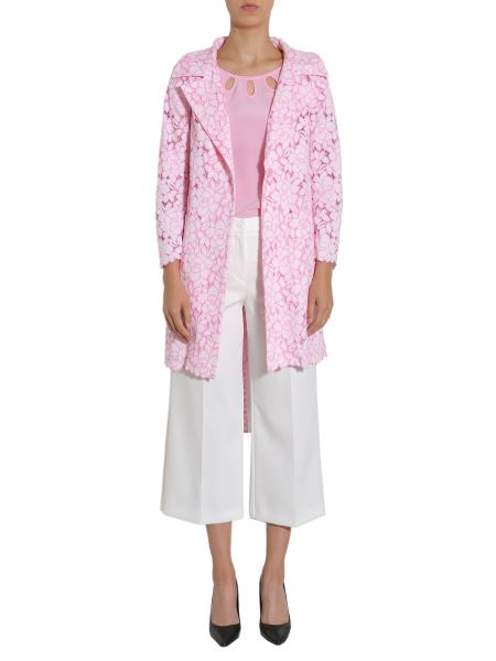 Boutique Moschino - Lace Overcoat With Belt