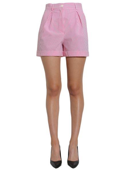 Boutique Moschino - Short A Righe In Cotone Seersucker