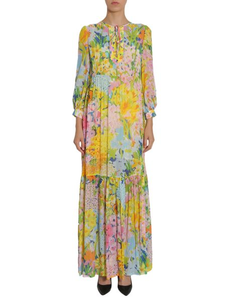 Boutique Moschino - Flower Printed Long Georgette Dress