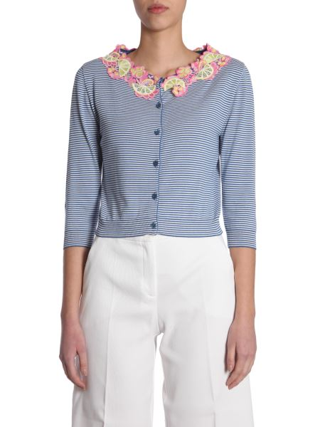 Boutique Moschino - Short Striped Cotton Cardigan