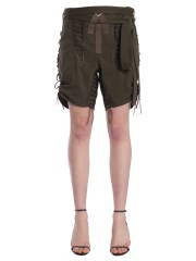 SAINT LAURENT - SHORT CON LACCI MILITARY