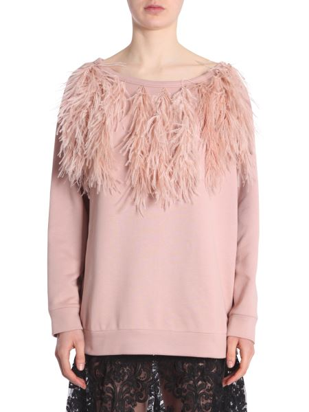 N°21 - Cotton Sweatshirt With Feathers