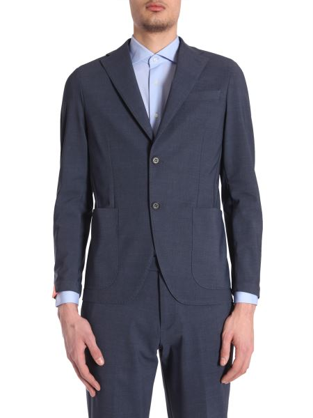 Traiano - Visconti Single-breasted Jacket In Stretch Light Wool