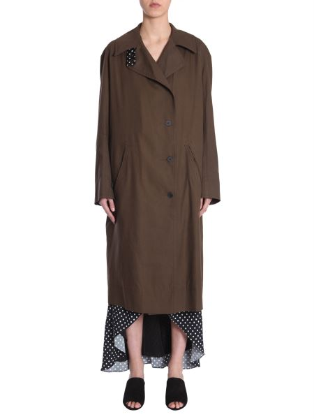 Haider Ackermann - Cotton Trench Coat With Raglan Sleeves
