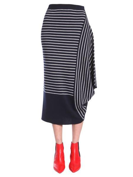 Jw Anderson - Striped Asymmetric Skirt