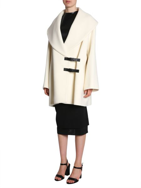 Lanvin COAT WITH DOUBLE LOGO