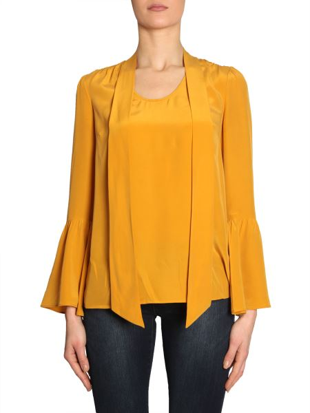 Michael By Michael Kors - Silk Shirt With Bell Sleeves