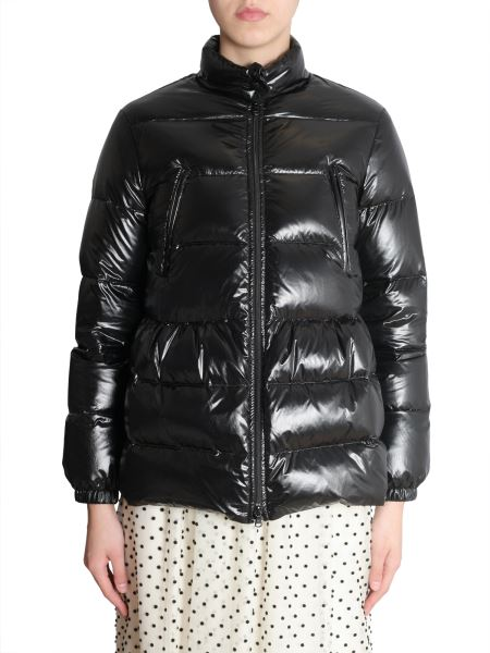 Red Valentino - Short Down Jacket In Technical Fabric With Back Print