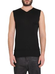 RICK OWENS - TOP IN JERSEY DI COTONE