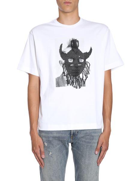 "Diesel Black Gold - Printed ""teorial-m5"" Cotton T-shirt"