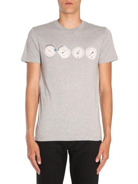 Ps By Paul Smith - T-shirt Girocollo In Cotone Con Stampa