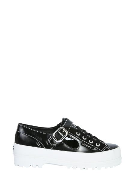 Alexa Chung X Superga - Cut Out Alpina Leather Sneakers