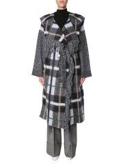 STELLA McCARTNEY - CAPPOTTO IN MISTO LANA A QUADRI