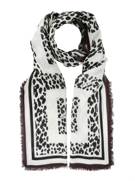 "Givenchy - ""leopard 4g"" Cashmere Blend Scarf"