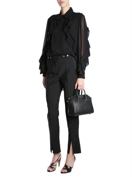 Givenchy - Silk Georgette Shirt With Ruffle
