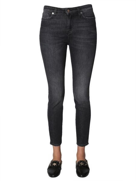Versace Collection - Skinny Fit Jeans With Medusa Logo