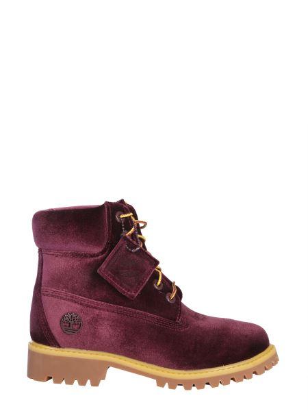Off-white - Timberland Maroon Velvet Boots