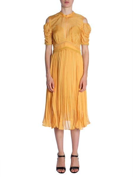 0955a0fe3d63 Self-portrait Pleated Chiffon Midi Dress Women - Eleonora Bonucci