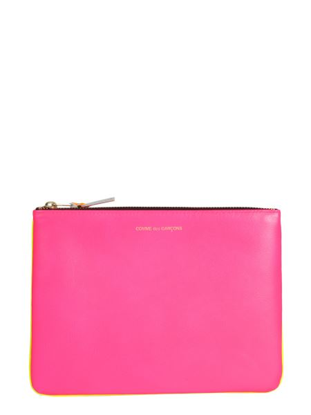Comme Des Garcons Wallet - Super Fluo Leather Pouch