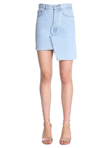 "Forte Dei Marmi Couture - ""lucille"" Denim Skirt Withg Asymetric Hem"