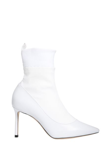 Jimmy Choo - Nappa Leather And Stretch Sock Brandon Ankle Boots