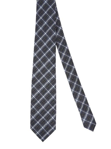 Tom Ford - Cravatta A Quadri In Misto Seta