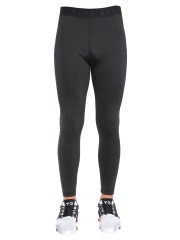 BLACKBARRETT BY NEIL BARRETT - LEGGINGS CON STAMPA FITTER FASTER STRONGER