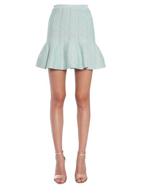 Alberta Ferretti - Lurex Skirt With Flared Hem