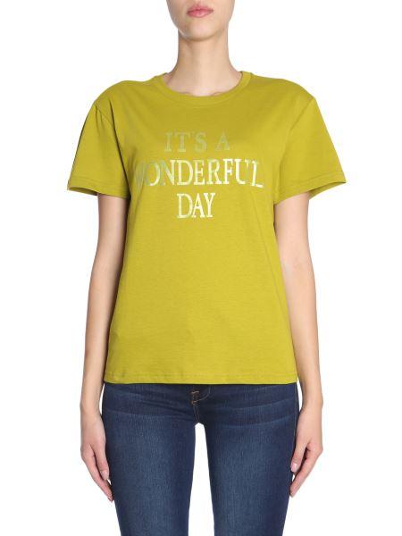 "Alberta Ferretti - T-shirt Con Stampa ""it's A Wonderful Day"""