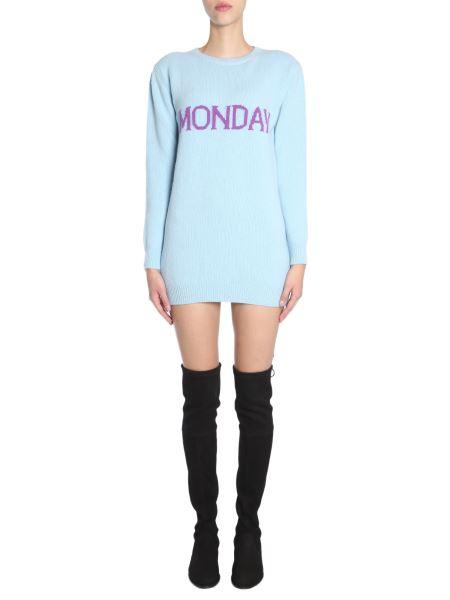"Alberta Ferretti - Knit Dress With ""monday"" Intarsia"