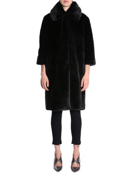 Ainea - Eco Fur Coat With Three Quarter Sleeve