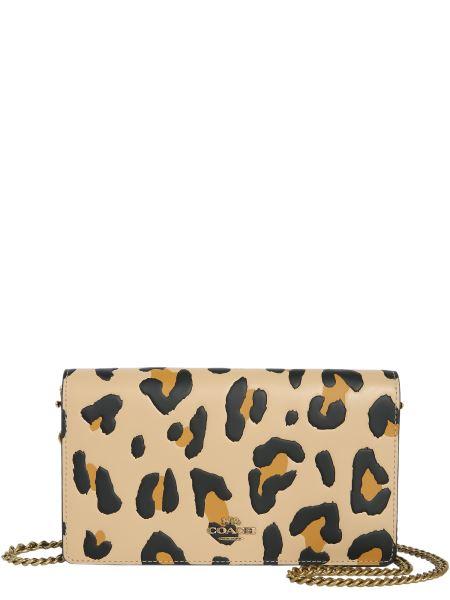 Coach Ny - Leopard Leather Crossbody Bag