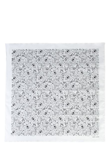 Saint Laurent - Usa Skull Cotton Foulard