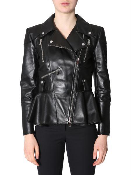 Alexander Mcqueen - Peplum Leather Jacket