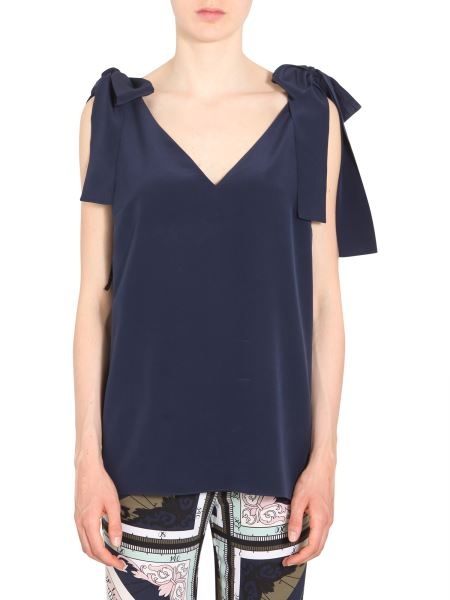 Tory Burch - Top In Seta Con Scollo A V