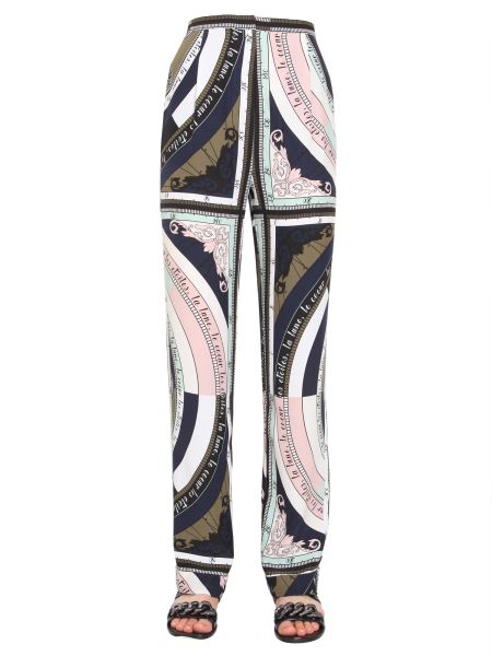 Tory Burch - Wide Silk Trousers With Constellation Print