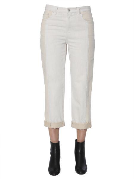 Alexander Mcqueen - Jeans In Denim A Pannelli