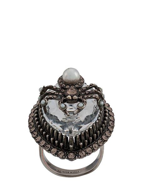 Alexander Mcqueen - Brass Spider Ring With Crystal