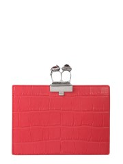 ALEXANDER McQUEEN - CLUTCH DOUBLE RING PICCOLA